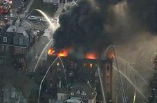 آواره شدن ساکنان یک ساختمان به دلیل آتش سوزی