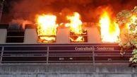 آتش گرفتن قطار حامل هواداران فوتبال در آلمان