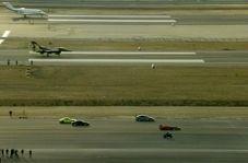 مسابقه سرعت موتورسیکلت با جت جنگنده!