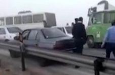 تصادف زنجیرهای در محور اهواز - آبادان