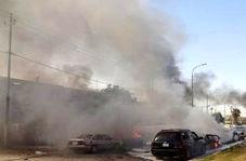 نمایی نزدیک از محل انفجار در عراق
