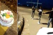 جشن تولد عجیب جوان هندوستانی در خیابان!