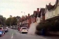 اقدام غیرانسانی راننده مردم آزار در روز بارانی