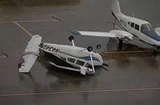 واژگونی هواپیماها پس از طوفان در تگزاس