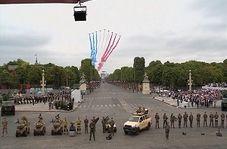رژه نیروهای نظامی ارتش فرانسه در خیابان شانزهلیزه