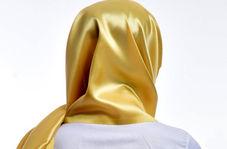 دختر کویتی با سر کردن شالی از جنس طلا جنجال به پا کرد