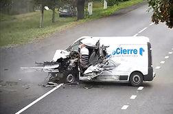 تصادف وحشتناک، راننده را از خواب پراند!