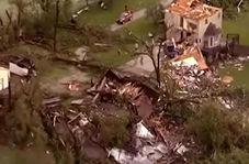 خسارتهای طوفان قدرتمند در داگلاس آمریکا