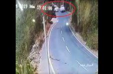 لحظه نفس گیر سقوط اتومبیل از بلندترین منطقه عربستان