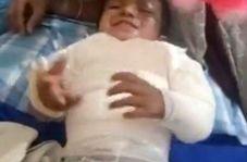 نجات معجزه آسای کودک دو ساله بعد از سقوط از طبقه سوم