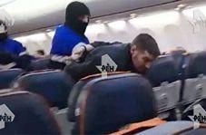 لحظه دستگیری عامل هواپیماربایی در روسیه