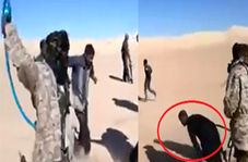 ویدئویی رعبانگیز از شکنجه چند گروگان توسط آدمربایان در بیابان!