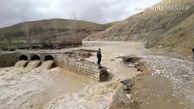 فیلم  سیل پل روستای «مرادآباد گل گل» دلفان را تخریب کرد