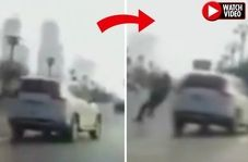 ویدئوی تصادف عجیبی که خبرساز شد!