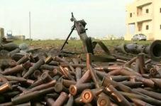 کشف مقادیر زیادی سلاح از تروریستها در حومه حمص