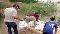 تلاش مردم برای رساندن غذا به جزایر محاصره شده در آب