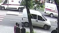 زیر گرفتن دختر نوجوان با ماشین آمبولانس