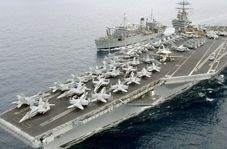 خواهش ناو هواپیمابر آمریکایی از سپاه به زبان فارسی