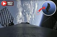 عبور ماهواره جاسوسی فرازمینیها از کنار راکت فالکن ۹!