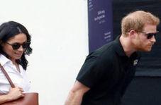 خطری که از بیخ گوش شاهزاده هری و همسرش گذشت