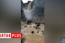 خروش آبشار فصلی در «نورآباد»