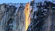 پدیدهای زیبا به نام آبشار آتش+ فیلم