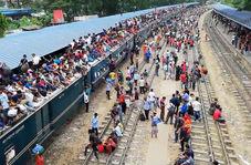 وضعیت حیرت انگیز جابجایی مسافر در بنگلادش