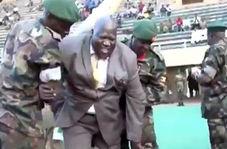 آبروریزی وزیر ورزش اوگاندا در ورزشگاه