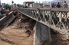 پلی که ارتش ۴۸ ساعته در مناطق سیلزده ساخت