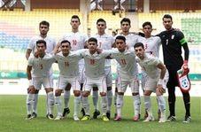 گرم کردن بازیکنان تیم ملی امید قبل از بازی با قطر