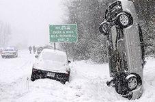 راههای فرار از حوادث فجیع رانندگی در جاده برف+فیلم