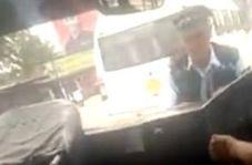 راننده خلافکاری که افسر پلیس را با خود برد