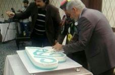 فیلم/ برش کیک توسط دکتر کلانترهرمزی در هتل پارسیان کرمانشاه