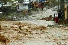 جاری شدن سیل در منطقه گردشگری تنگه واشی