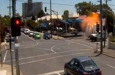 انفجار وحشتناک کامیونت در ملبورن استرالیا