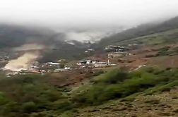 لحظه وحشتناک سقوط سنگ غول پیکر در روستای پیت سرا