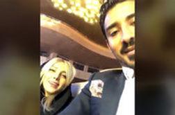 رضا قوچان نژاد و همسرش در کنسرت علی زندوکیلی