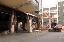 لحظه تخریب بازار قدیمی ماهی فروشان در توکیو
