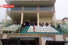 تشویق محلی هواداران رایکا بابل قبل از بازی با قشقایی شیراز