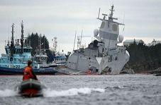 برخورد نفتکش با ناو جنگی در نروژ + فیلم