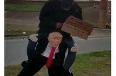 شیوه درآمدزایی جالب با عروسک ترامپ!