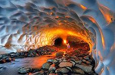 تلی از برف در گرمای تابستان با سفر به غار یخی شهرکرد