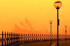 حال و هوای آخرالزمانی استرالیا و قرمز شدن آسمان