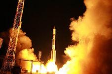 صحنه تماشایی پرتاب موشک پروتون به فضا