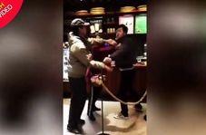 درگیری مشتریان کافی شاپ بر سر فنجان قهوه خبرساز شد!