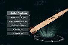 رونمایی از جدیدترین موشک بالستیک یمنی به نام بدر F