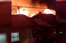 آتش سوزی در مناطق مختلف گیلان که به مناطق مسکونی رسید