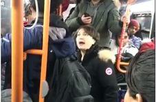 واکنش جالب زن جوان به چند مرد هوسباز در اتوبوس!
