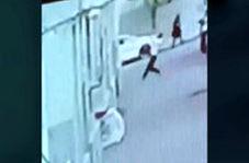 لحظه حیرتانگیز نجات کودک پس از سقوط از طبقه پنجم