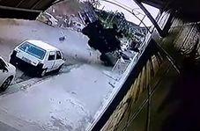 پرواز وحشتناک یک کامیون در خیابان! + فیلم